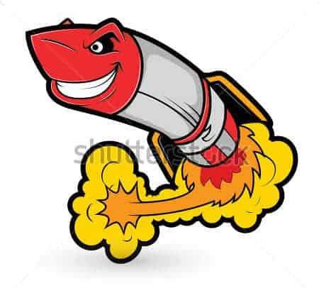 rocket missile cartoon